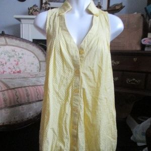 Forever 21 - Yellow & White Stripped Dress Size M
